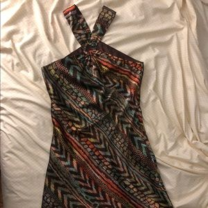 ABS by Allen Schwartz cocktail dress, brown, sz 6